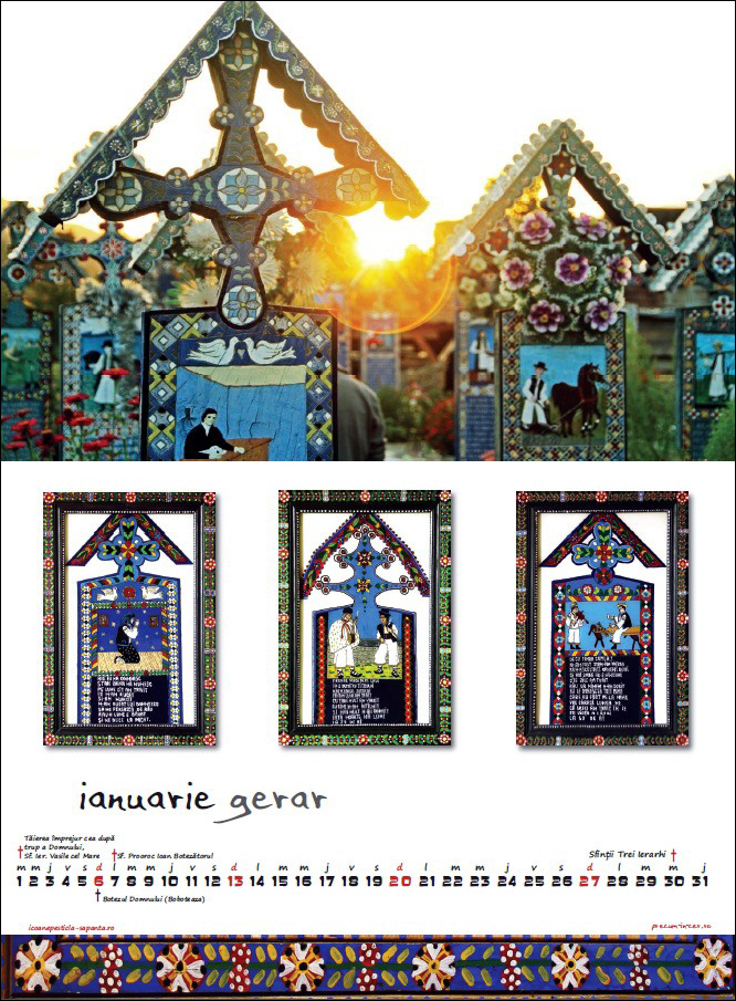 Calendar Icoane Sapanta 2013 Ianuarie Foto Cristina Nichitus Roncea Pictura Ioana Lutai