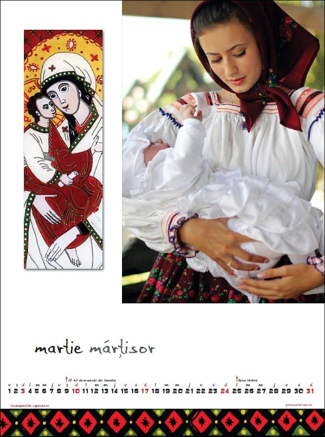 Calendar Icoane Sapanta 2013 Martie Foto Cristina Nichitus Roncea Pictura Ioana Lutai