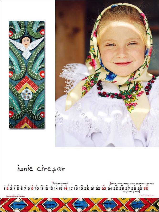 Calendar Icoane Sapanta 2013 Fetita Iunie Foto Cristina Nichitus Roncea Pictura Ioana Lutai