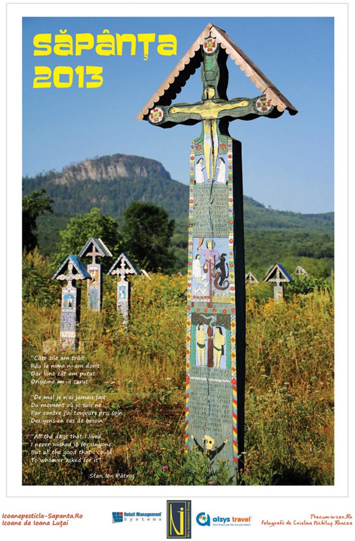 Calendar Sapanta 2013 - Icoane pe sticla de Ioana Lutai si Fotografii de Cristina Nichitus Roncea