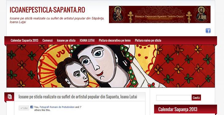 Icoane pe sticla - Sapanta - Icoane pe sticla realizate de artistul popular din Sapanta IOANA LUTAI